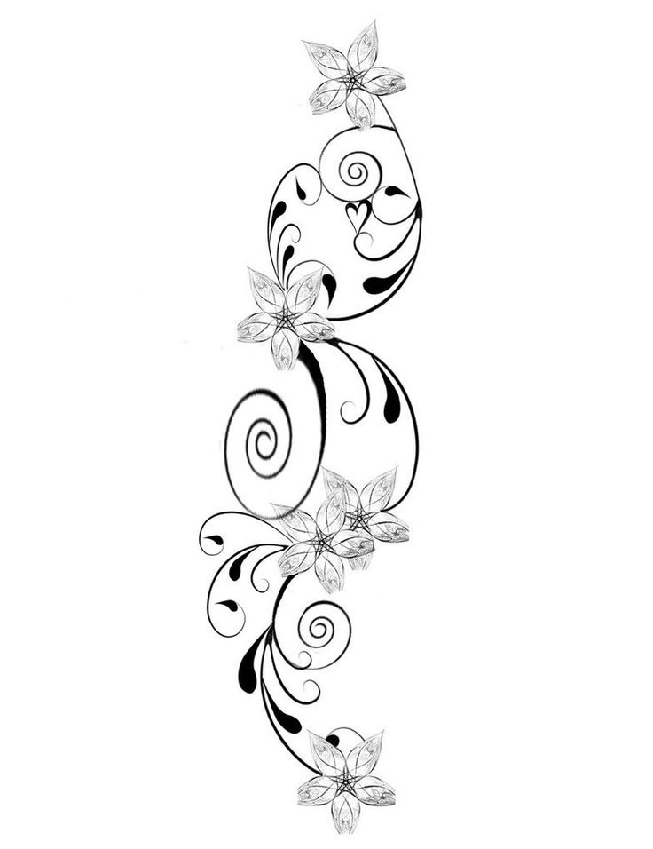 736x956 Flower And Star Tattoo Designs Group