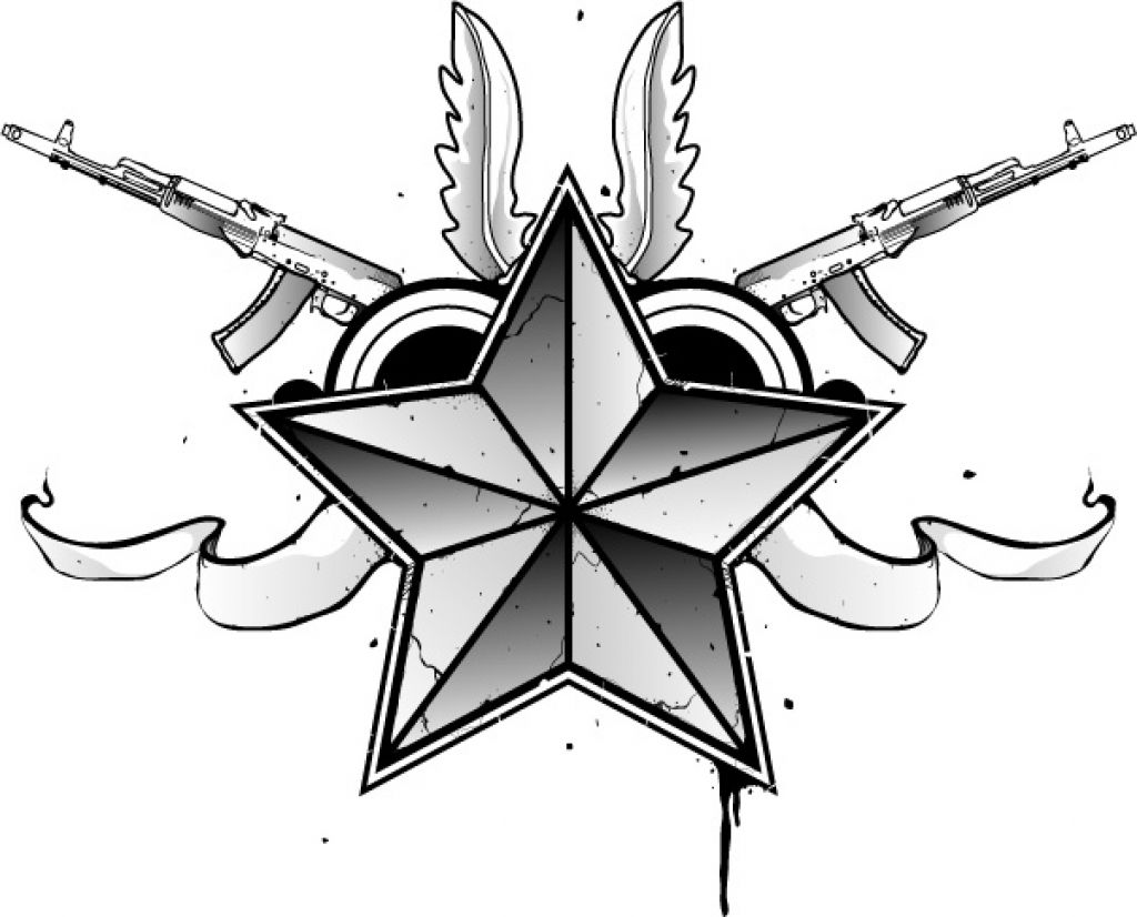 1024x826 Nautical Star Tattoo Designs