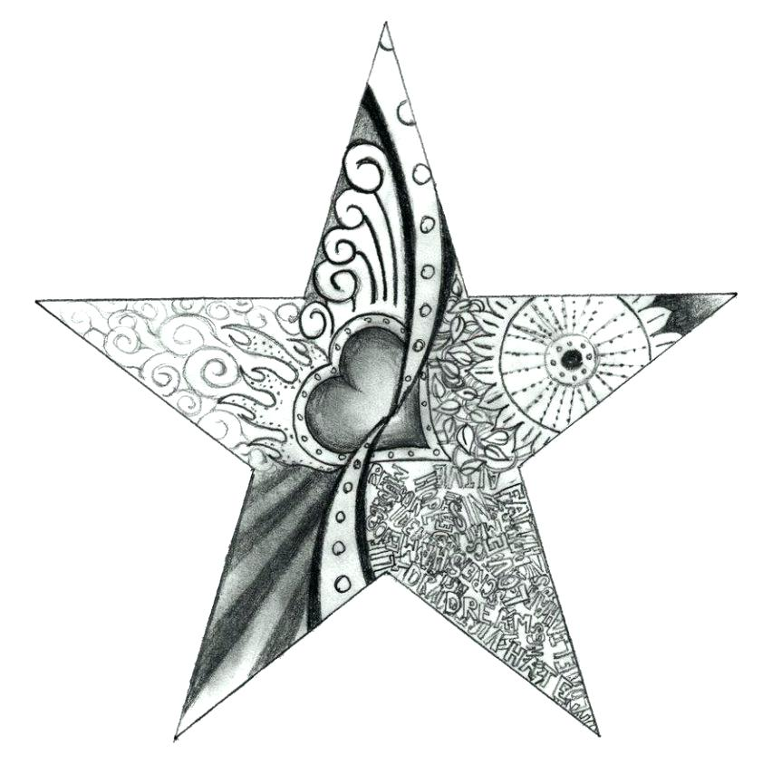 graphic relating to Printable Tattoo Stencils titled Star Tattoo Drawing Models at  Cost-free for