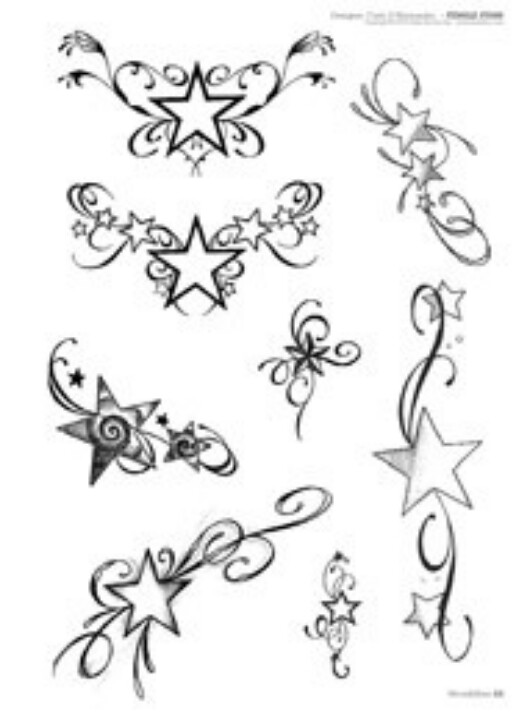 527x720 Star Tattoo Designs Tattoo, Star And Middle