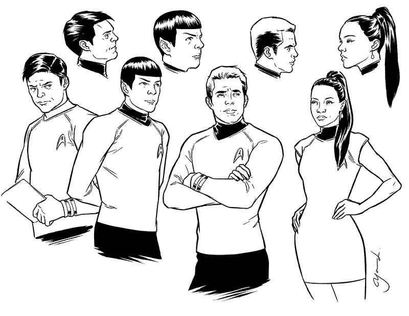 800x618 My Initial Drawings For Star Trek