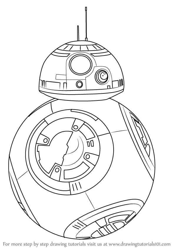 598x844 Learn How To Draw Bb 8 From Star Wars (Star Wars) Step By Step