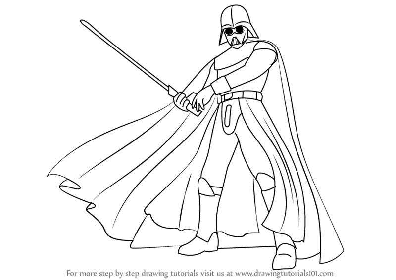 800x566 Learn How To Draw Darth Vader From Star Wars (Star Wars) Step By