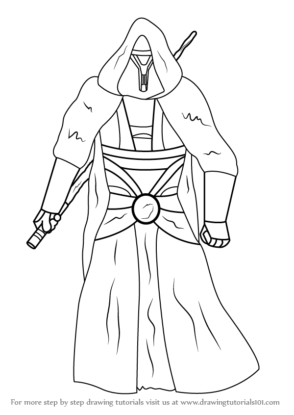 600x846 Learn How To Draw Revan From Star Wars (Star Wars) Step By Step