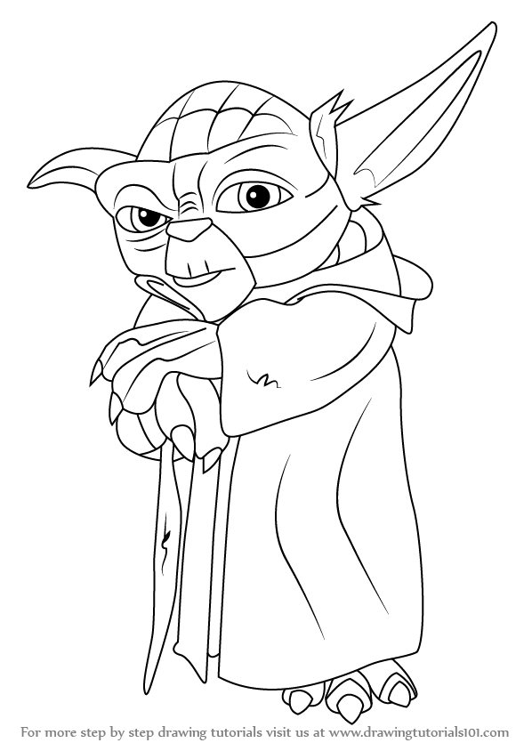 598x844 Learn How To Draw Yoda From Star Wars (Star Wars) Step By Step