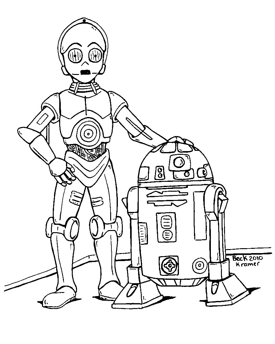 896x1120 Star Wars Cartoon Drawing R2 3po Coloring Page Love Star Wars