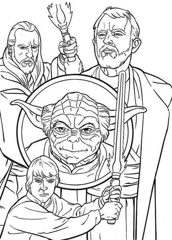 600x840 How To Draw The Star Wars Characters Coloring Page