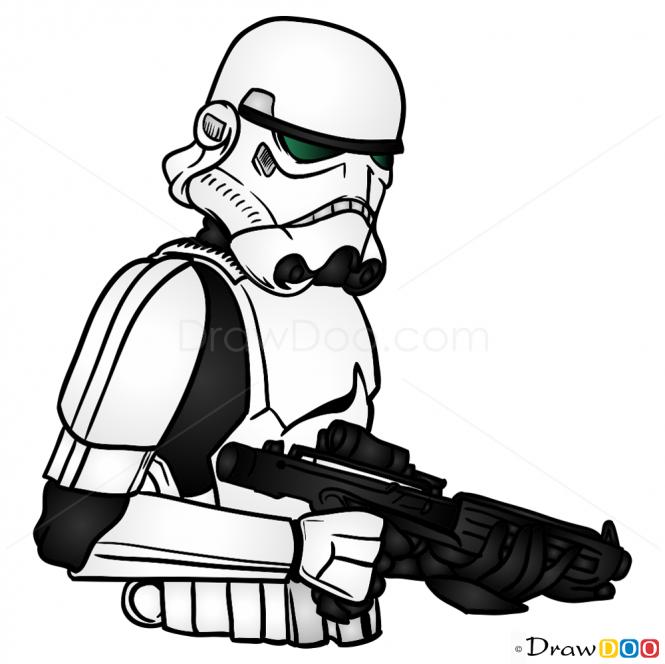 665x664 How To Draw Stormtrooper, Star Wars Sharpie Star Wars