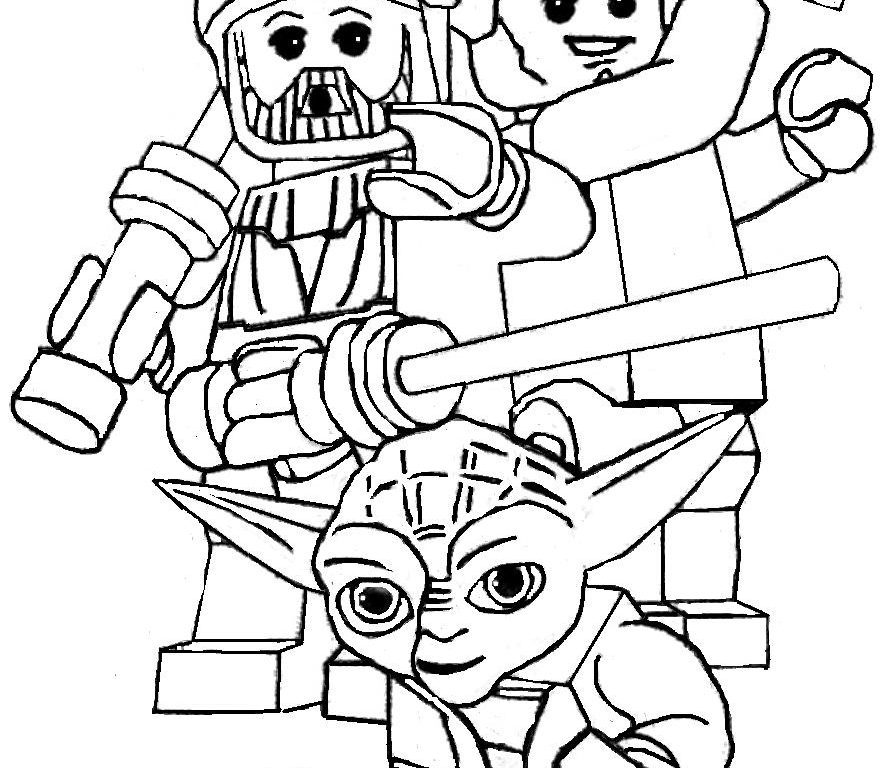 890x768 Lego Star Wars Return Of The Jedi Coloring Pages Freemaker