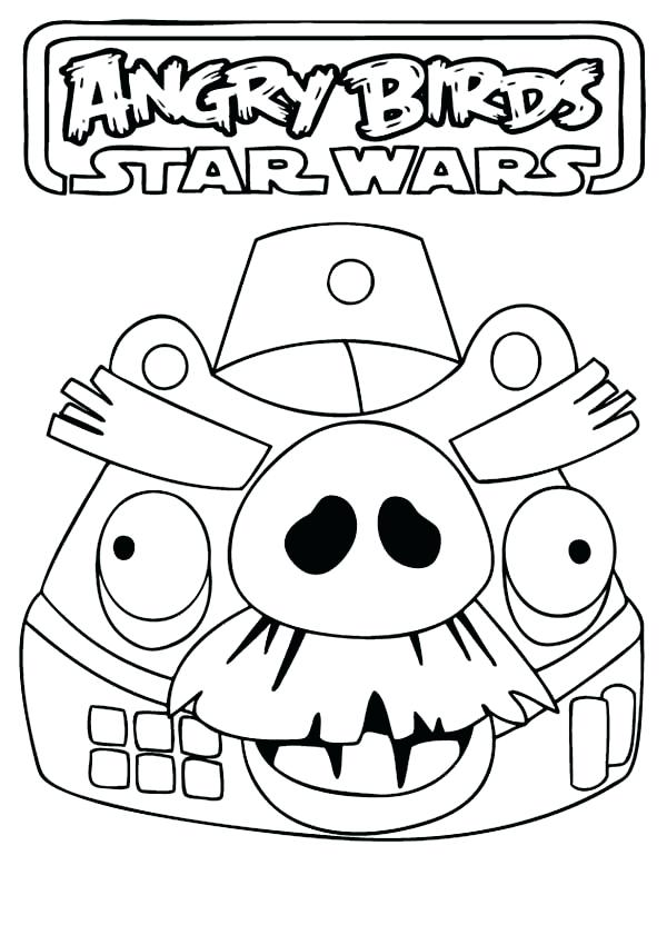 600x850 Star Wars Angry Birds Coloring Pages Drawing Angry Birds Star Wars