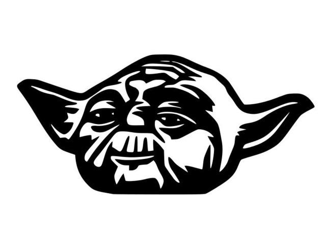 640x480 Star Wars Car Sticker Creative Cartoon Yoda Jedi Force Vinyl Car