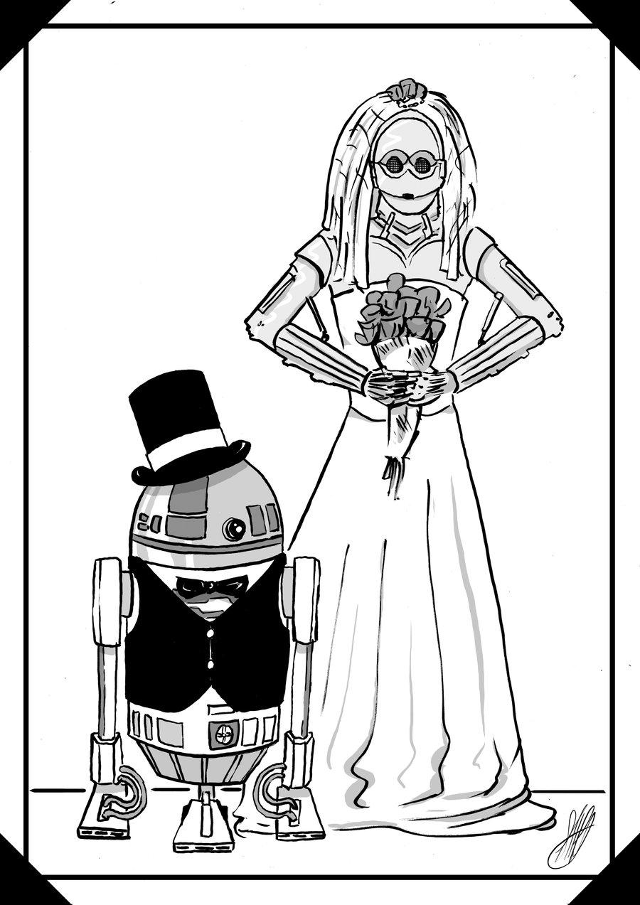 900x1273 Star Wars Wedding By Ska Ninja