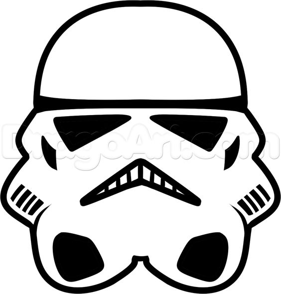 564x590 How To Draw A Stormtrooper Easy, Step By Step, Star Wars