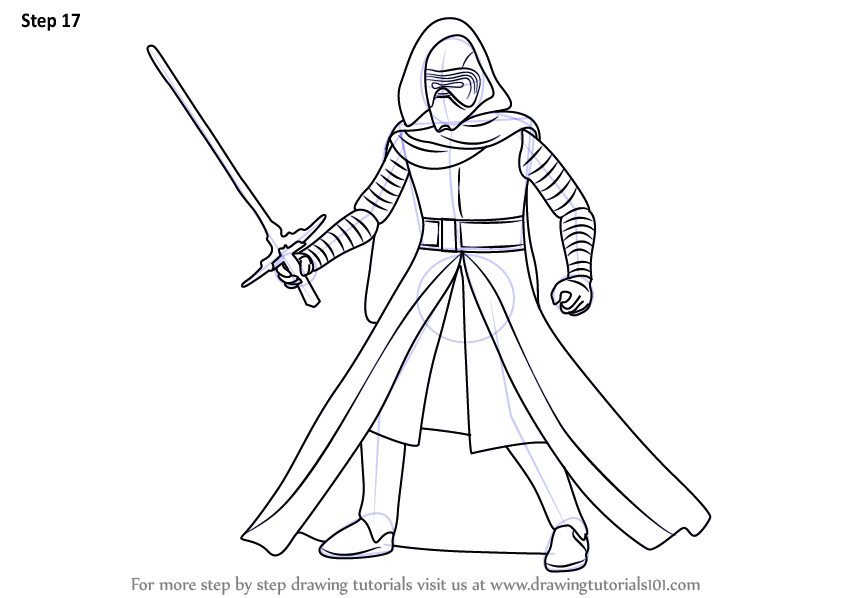 844x598 Learn How To Draw Kylo Ren From Star Wars (Star Wars) Step By Step