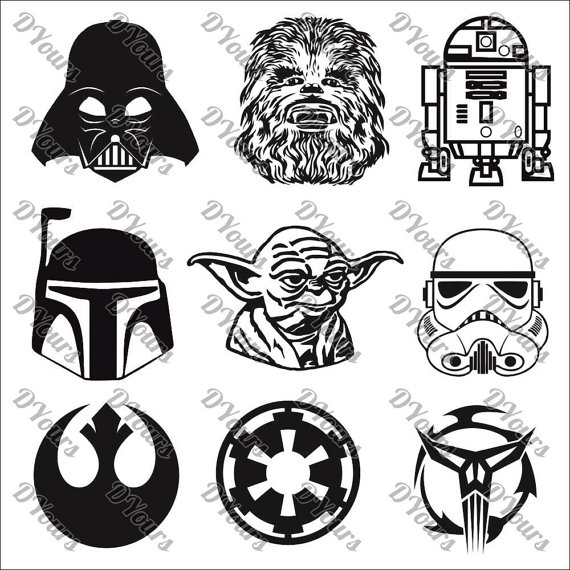 570x570 Star Wars Characters 9 Vector Models Vector Collection Svg
