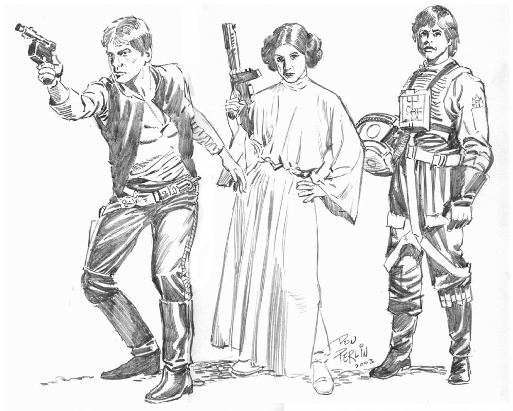 998x800 Star Wars Leads, In Don Perlin's Art Commissions Comic Art Gallery