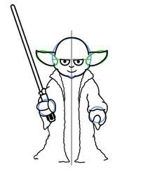 204x247 How To Draw Yoda Easy, Step By Step, Star Wars Characters, Draw