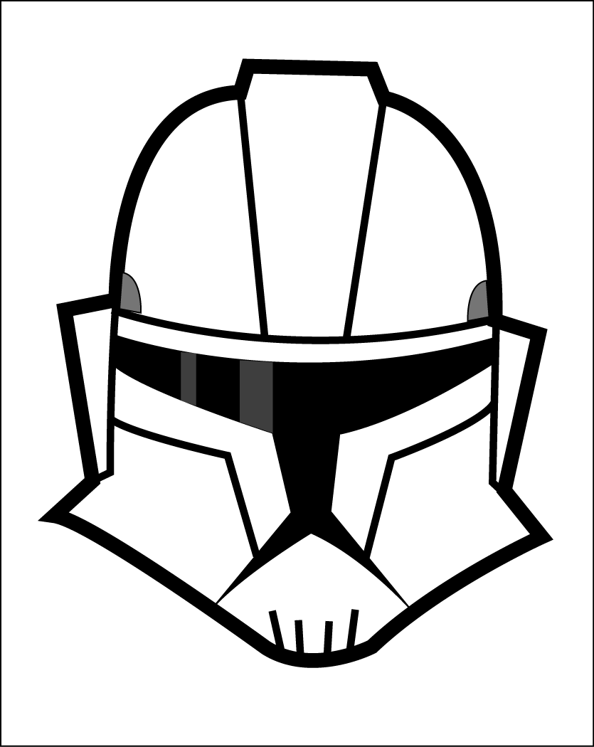 835x1050 Drawn Helmet Star Wars