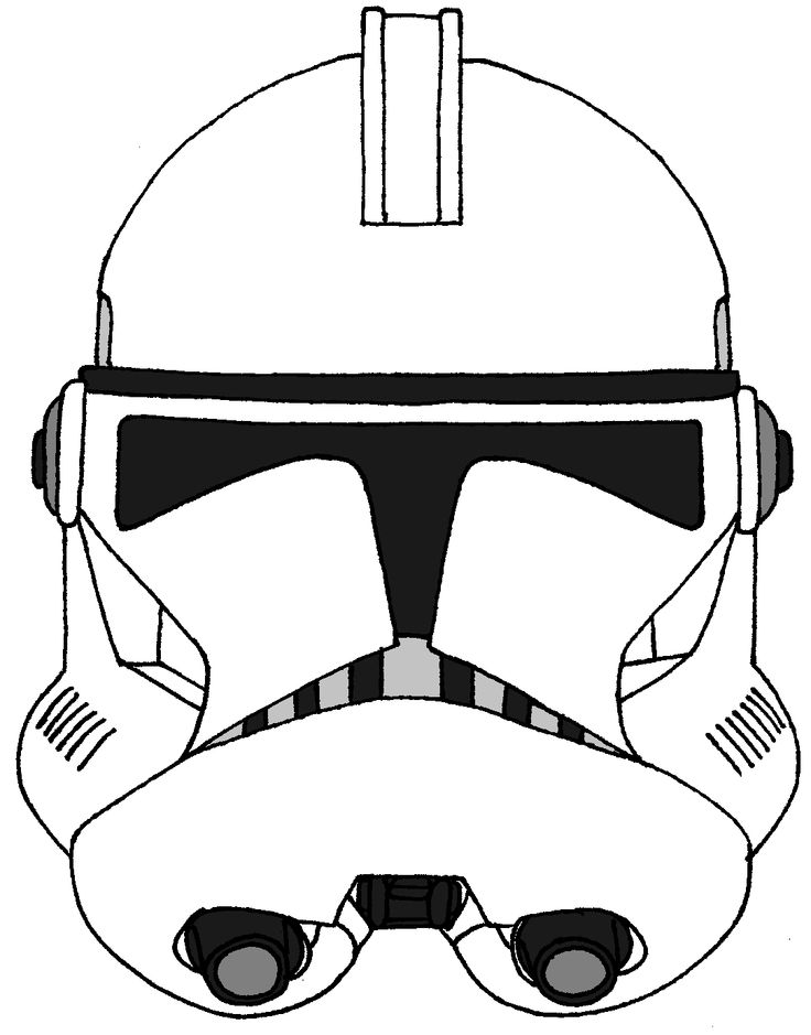 736x939 Drawn Star Wars Helmet