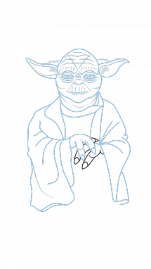215x382 How To Draw Yoda, Star Wars, Movies, Easy Step By Step Drawing