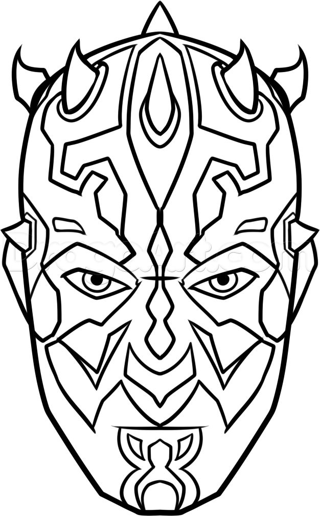 626x1010 New Darth Maul Coloring Page 25
