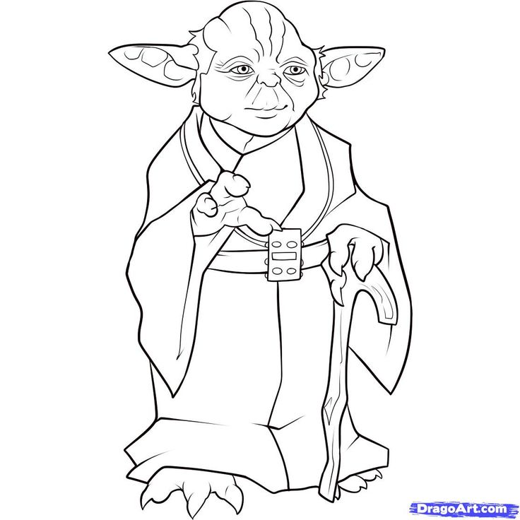 736x736 How To Draw Yoda Star Wars Step By Step Cute Cartoon Yoda Easy
