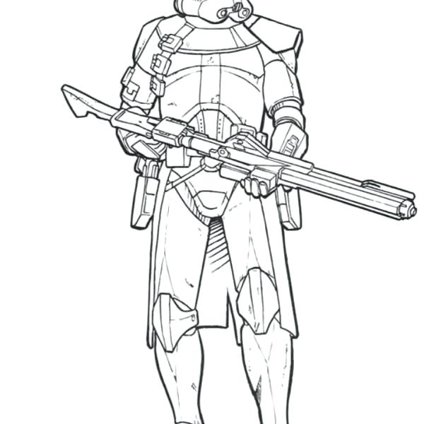 600x600 Star Wars Clone Coloring Pages Star Wars The Clone Trooper Drawing