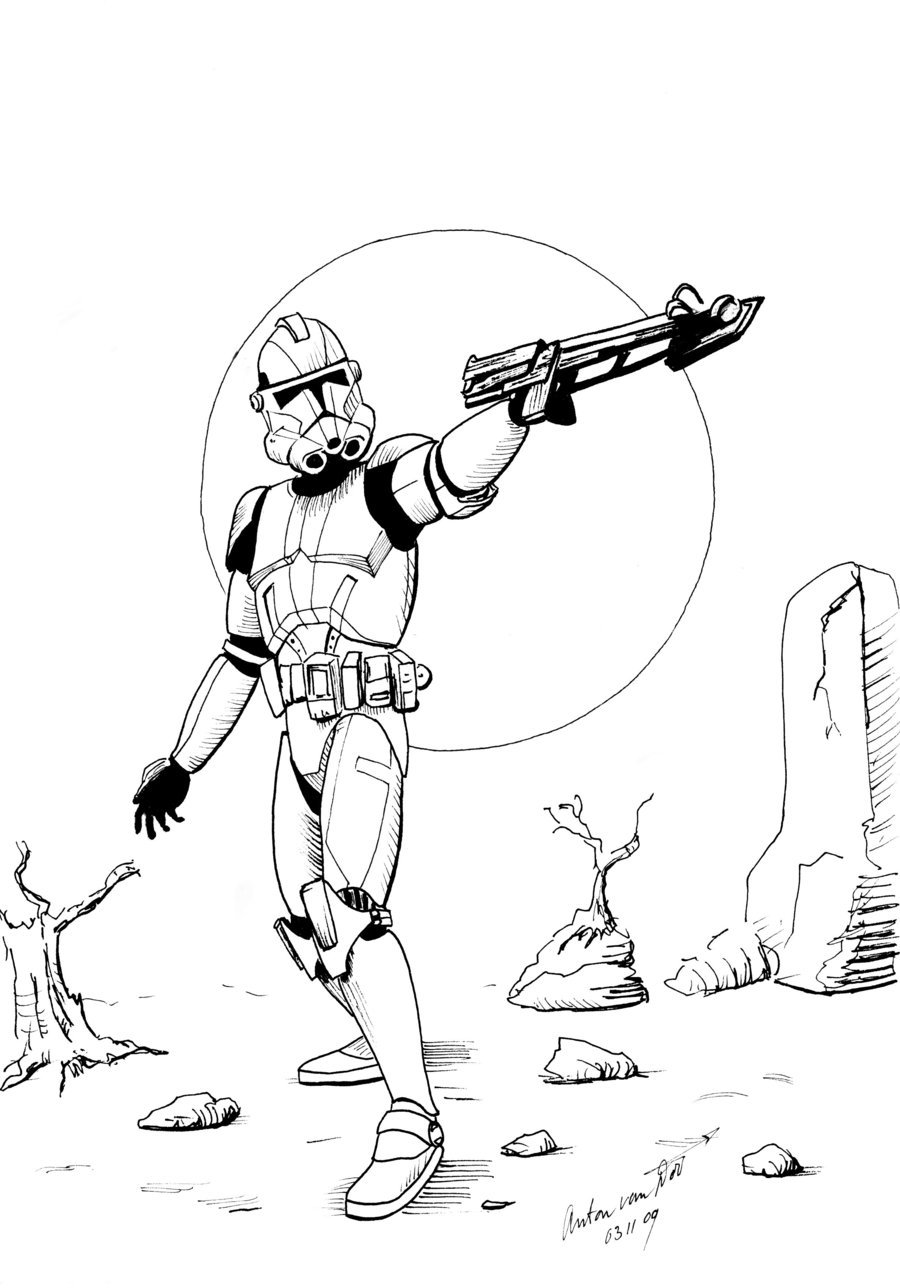 Star Wars Clone Drawing at GetDrawings.com | Free for personal use ...