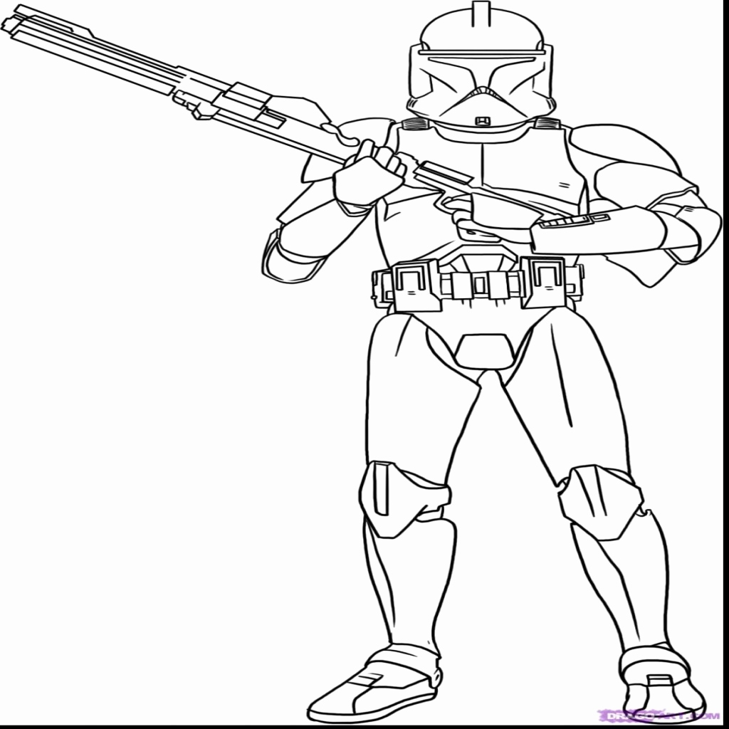 Star Wars Clone Trooper Drawing