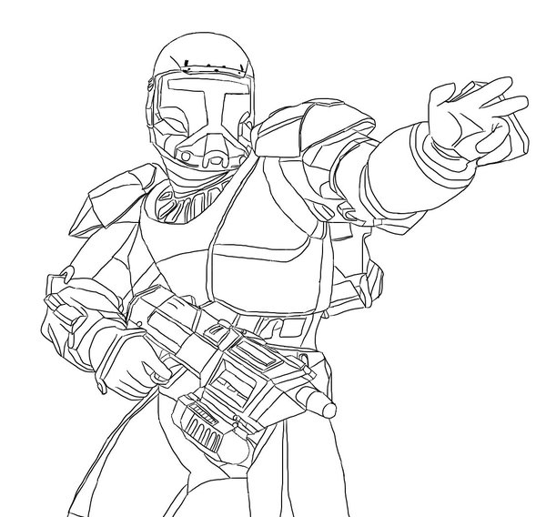 600x568 Star Wars Clone Commando Coloring Pages Star Wars Bounty Hunter