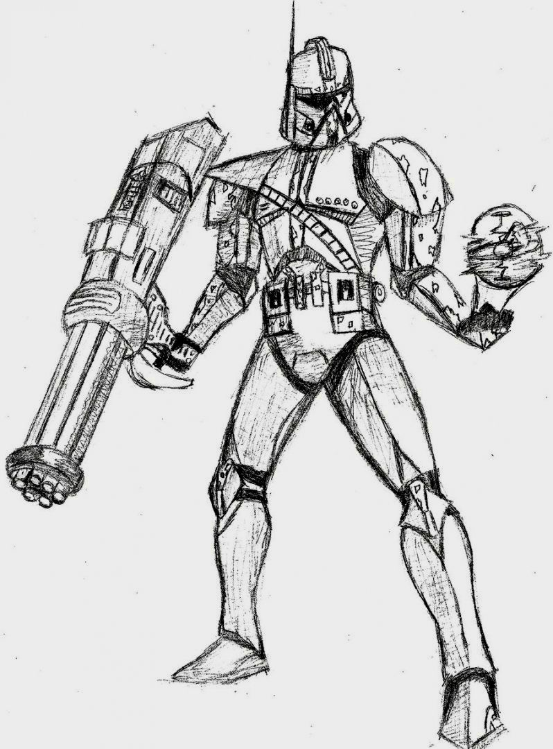 798x1080 Star Wars Clone Trooper Coloring Pages