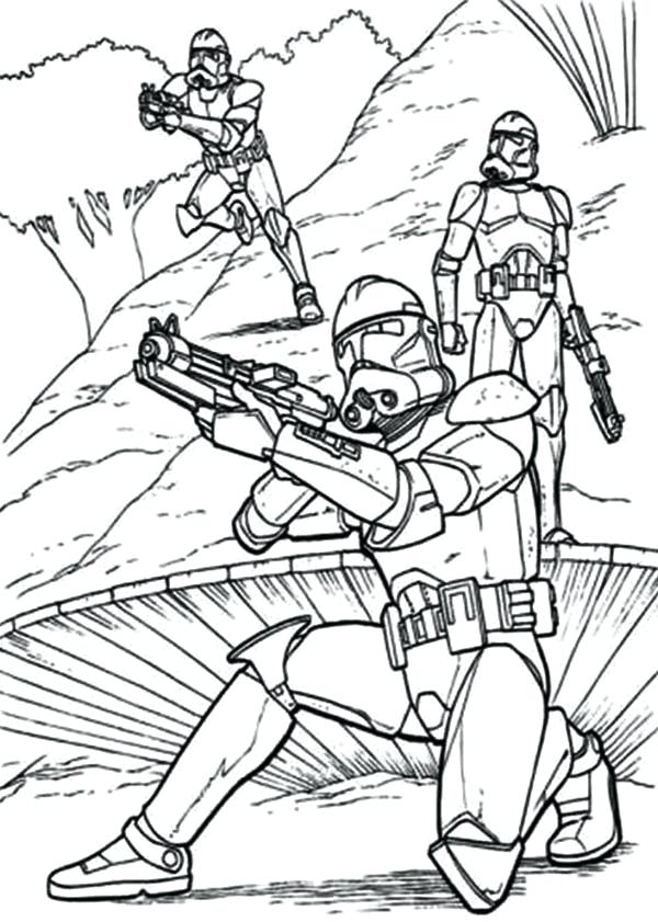 600x841 Star Wars Clone Trooper Coloring Pages Clone Trooper Coloring