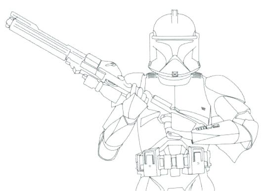 530x387 Star Wars Clone Trooper Coloring Pages Star Wars Coloring Pages