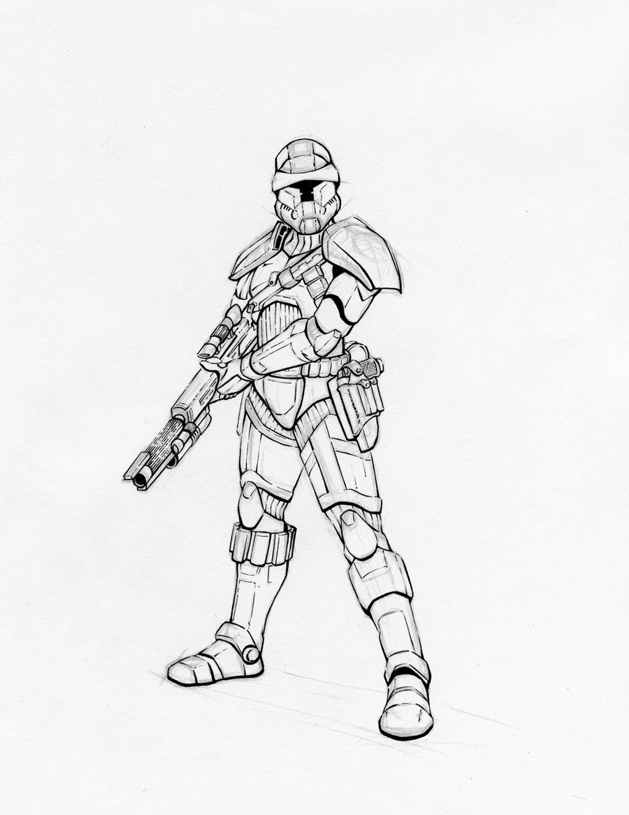 900x1165 Star Wars Republic Trooper By K1lleet