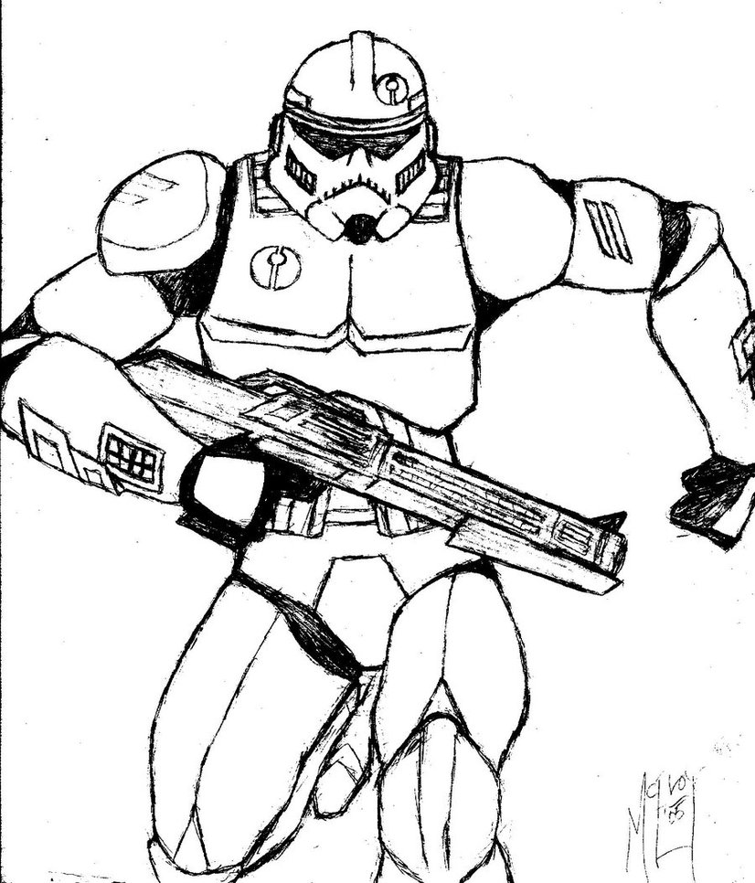 826x966 Clone Trooper Assassin Sketch By Ugccomics