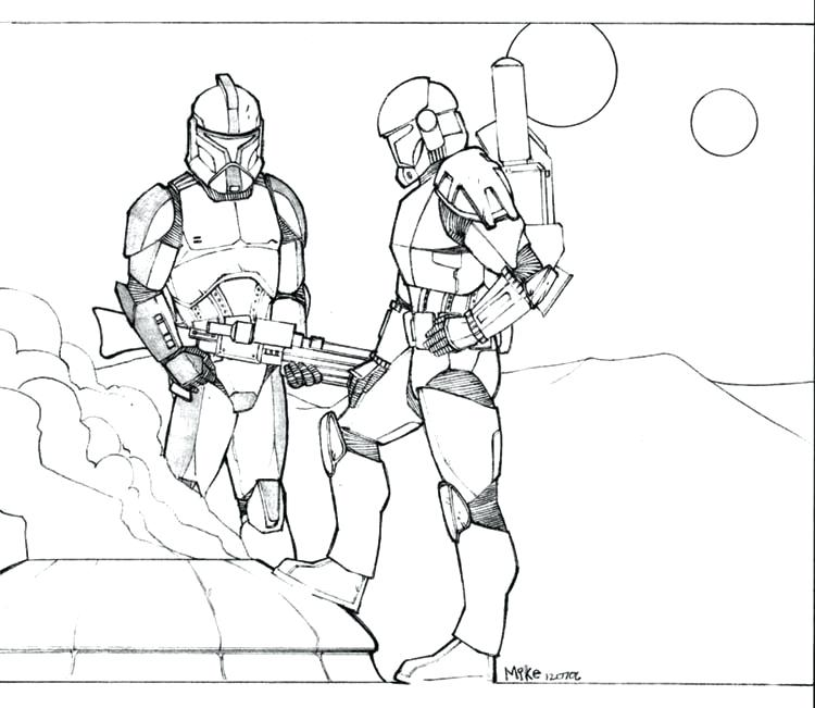 750x651 Clone Coloring Pages Related Star Wars Clone Trooper Coloring