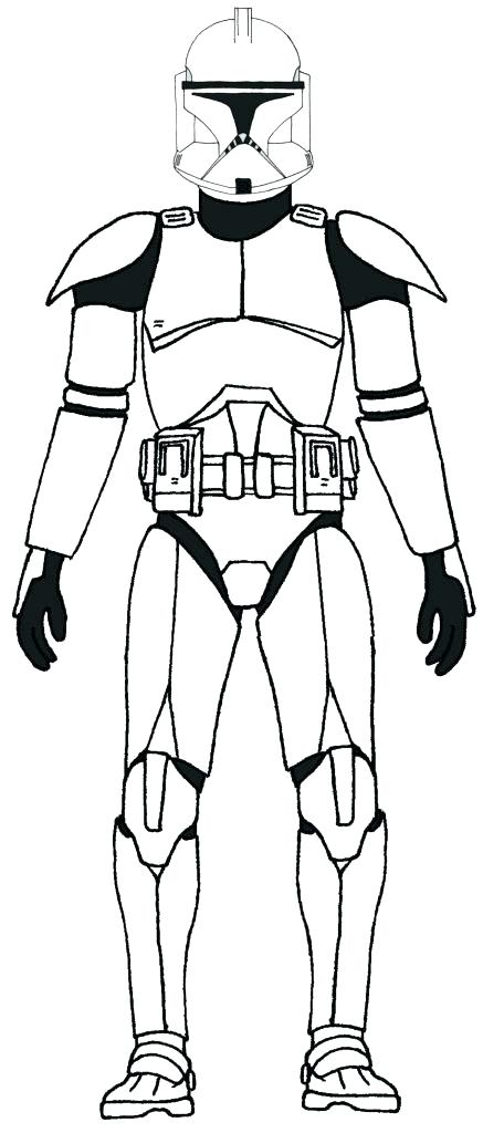 437x1024 Clone Trooper Coloring Page Print Star Wars Troop On Clone Trooper