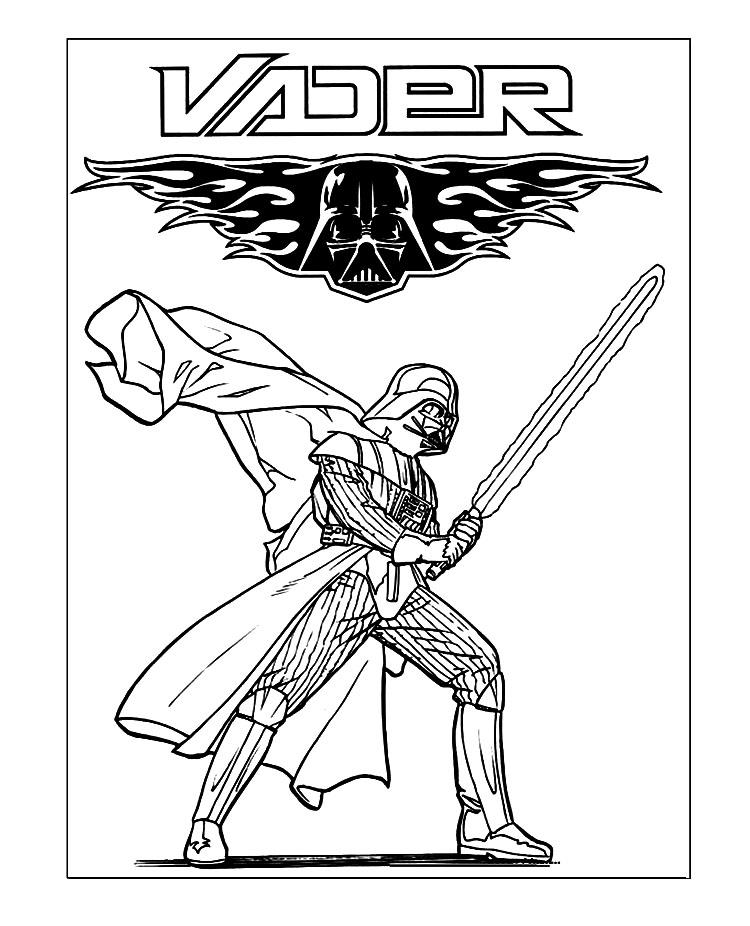 750x926 Darth Vader Coloring Pages Star Wars Movie