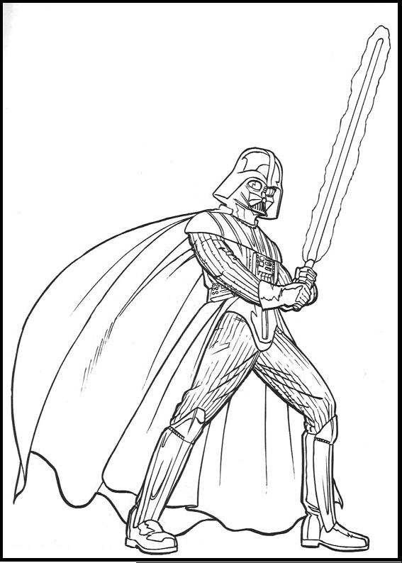 567x794 Drawn Darth Vader Printable