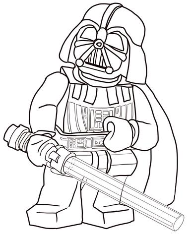 387x480 Lego Star Wars Darth Vader Coloring Page Free Printable Coloring