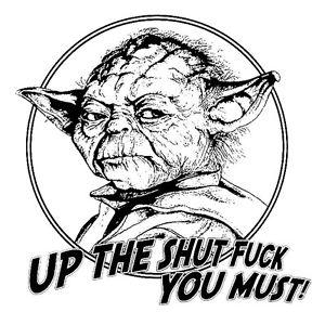 300x300 Star Wars Funny Master Yoda Shut Up Men's T Shirt Darth Vader Fun