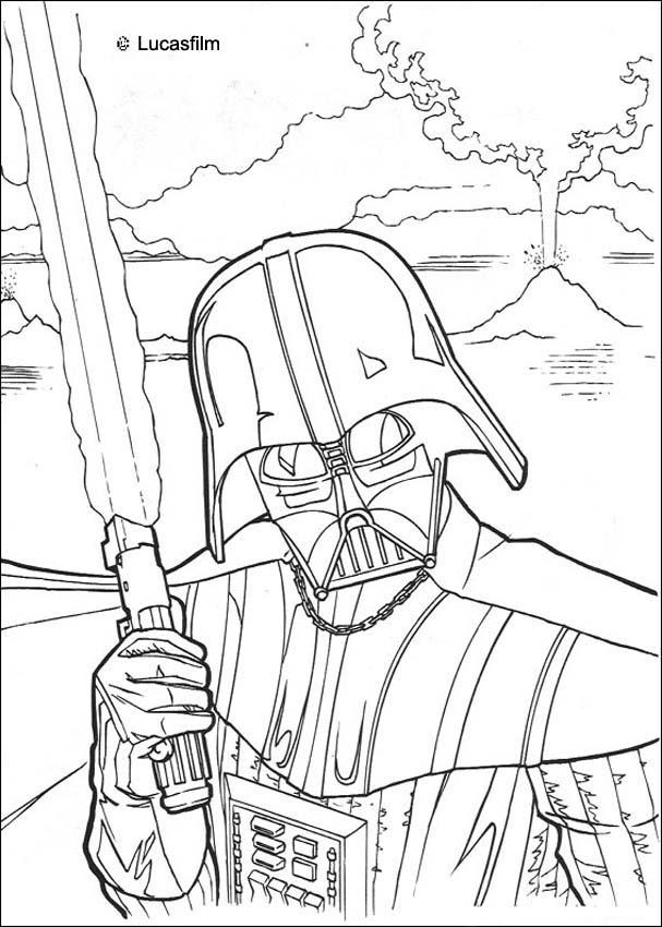 607x850 Darth Vader Coloring Pages Fighting Darth Vader Coloring Pages