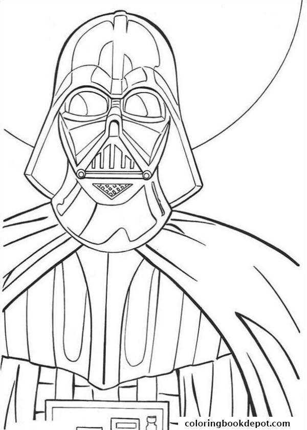 600x841 Star Wars Darth Vader Coloring Pages