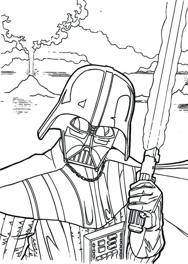 600x840 Darth Vader Coloring Page Star Wars Coloring Pages Star Wars Kids