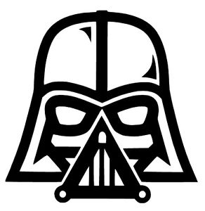 292x300 Darth Vader Star Wars The Force Awakens Vinyl Decal Sticker Car