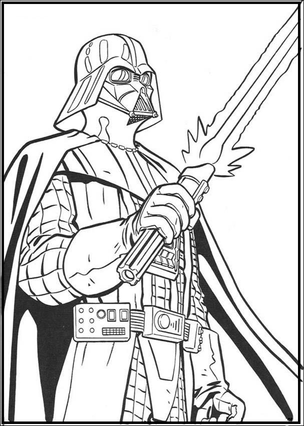 607x850 Darth Vader Star Wars Coloring Picture For Kids Star Wars