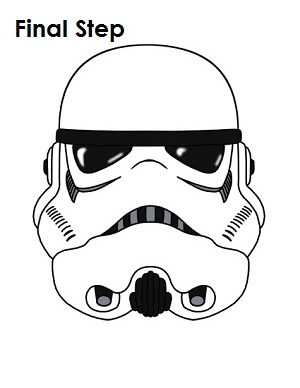 300x388 How To Draw Stormtrooper Star Wars Completed Drawing For My Love