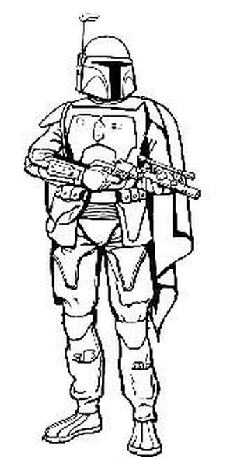 333x655 Star Wars Coloring Page More Boba Embroidery Patterns