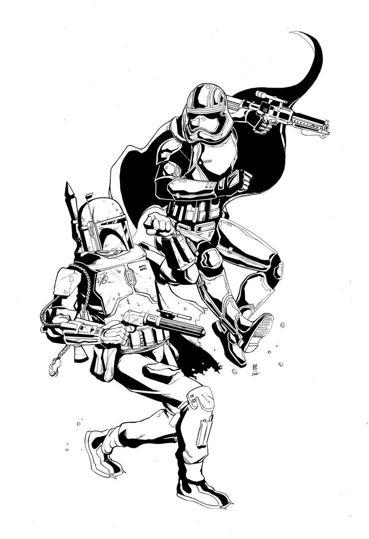739x1081 Captain Phasma Vs Boba Fett Star Wars Boba Fett