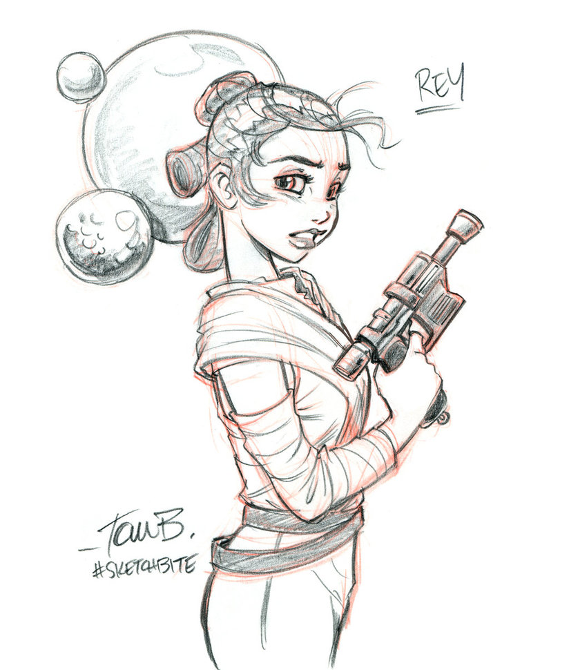 824x970 Rey From Star Wars By Tombancroft